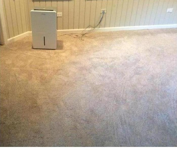a room that has had the floors dried