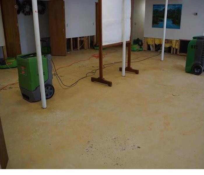 basement damaged by water